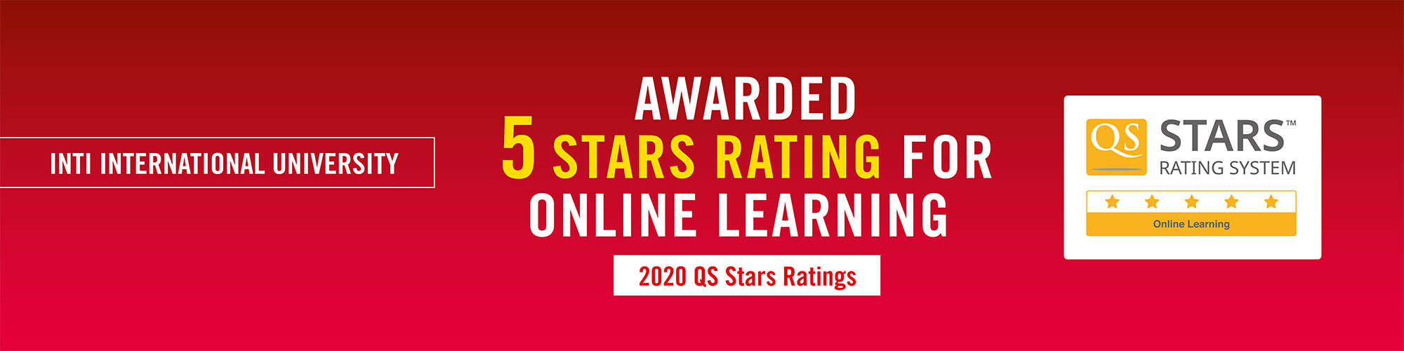 5 QS Stars Rating For Online Courses Learning - INTI University Malaysia