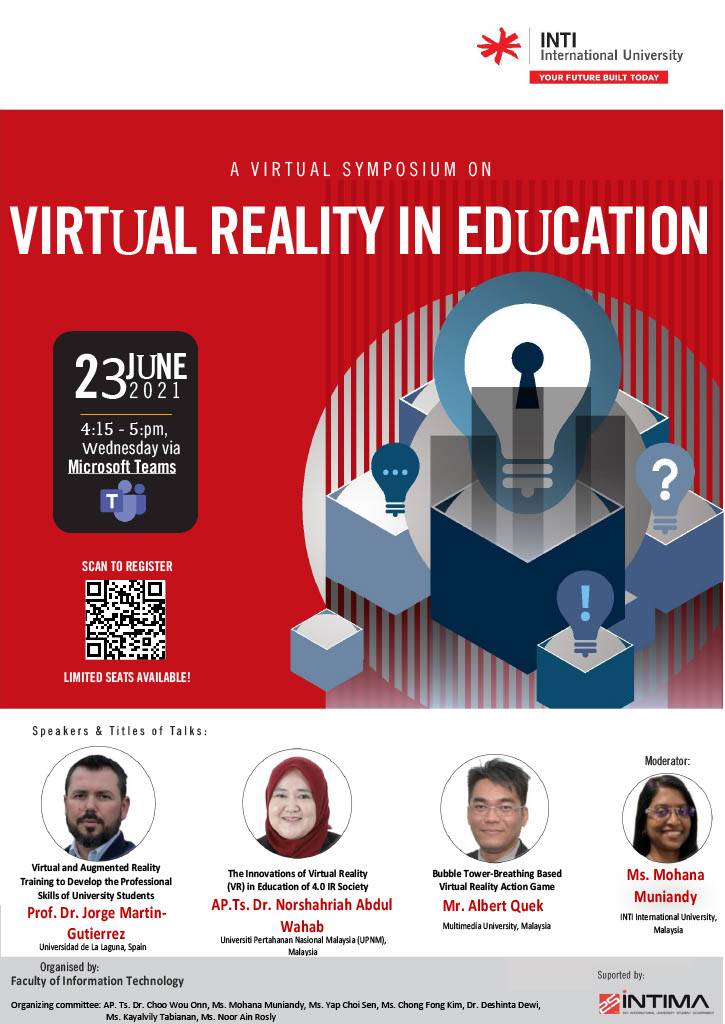 23 JUNE 2021 – A Virtual Symposium On Virtual Reality In Education